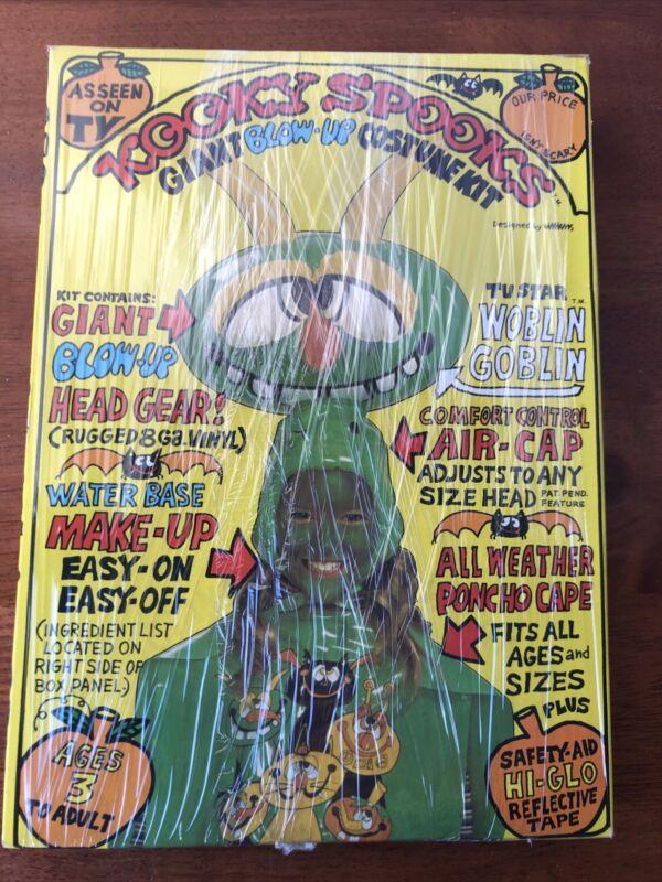 VTG Kooky Spooks Halloween Blow Up Costumes Spacey Casey & Woblin Goblin 1979