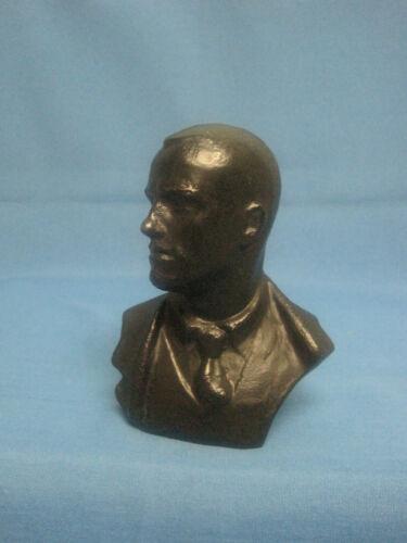 Mayakovsky. Soviet poet. Bust. Sculpture. Metal Figurine. The USSR 1960.