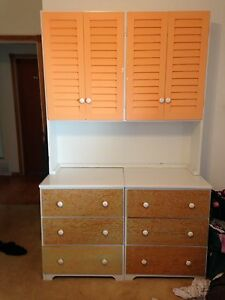 Dresser with Shuttered Shelves