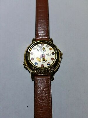 Vintage Lorus Disney Mickey Mouse Musical Small World Watch- New Battery