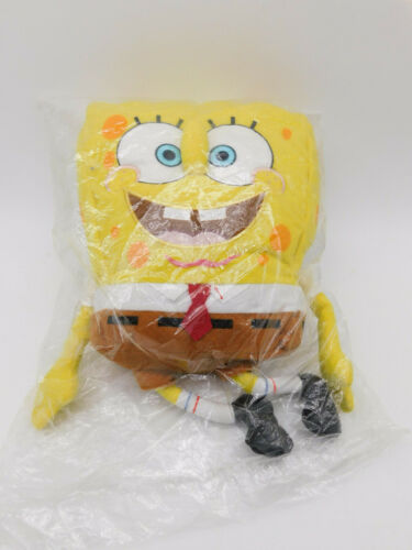 "Nickelodeon Spongebob Square Pants 15"" Backpack Plush 2002 Factory Sealed NOS"