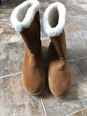 J.Crew Suede and Shearling Lined Pull-On Ankle Boots or Slippers Sz. 8M Women