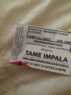 Tame Impala 18+ ticket for sale! Mudgeeraba Gold Coast South Preview