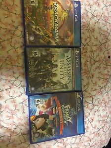 3 mint condition PS4 games $10