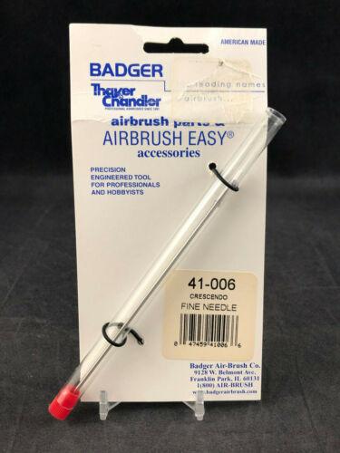Badger Airbrush Co. 41-006 Crescendo Fine Needle  New Ships Free
