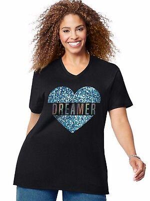 Just My Size Jms Short Sleeve T Shirt Top Tee Dreamer   Gtj181