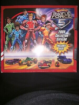 HOT WHEELS MINT BATTLE FORCE 5 2009 COLLECTOR CATALOG AND DVD  !