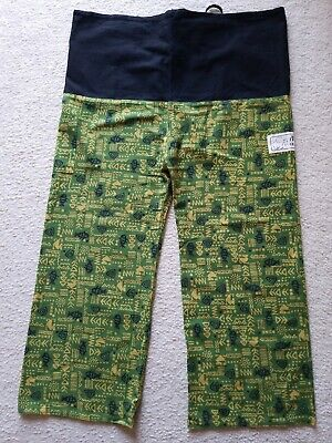 Chiang Rai Thailand Womens Large Green Cotton Pants 48 X 32