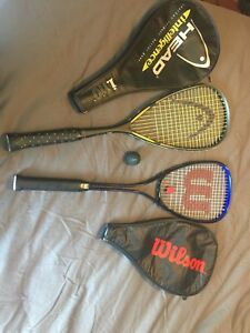 Two Squash or Racketball Racquets