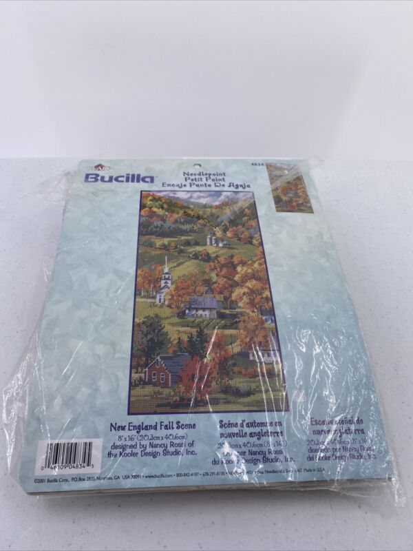 Bucilla New England Fall Scene Needlepoint Kit 4834 Nancy Rossi Missing Needle
