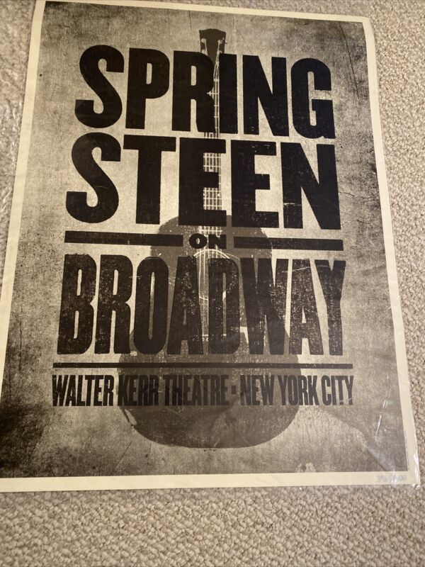 NEW BRUCE SPRINGSTEEN ON BROADWAY EXCLUSIVE POSTER #4 NYC LTD 3959/4000
