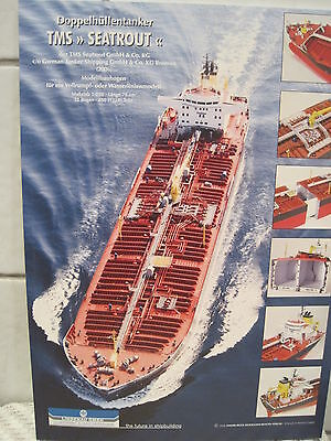 TMS Seatrout Doppelhüllentanker Kartonbausatz *NEU* Bastelbogen Kartonmodell