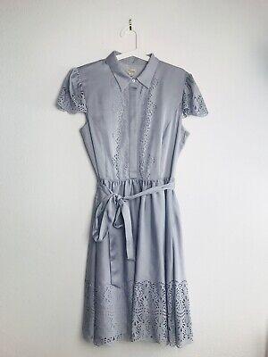 Temperley London Jacques Dress Ice blue size UK 14 US 10 New $695