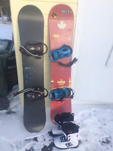 Two snowboards