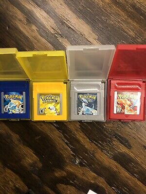 Pokemon Red +Yellow +Blue +Silver Game Boy / Color LOT Pokemon Bundle Fast Ship