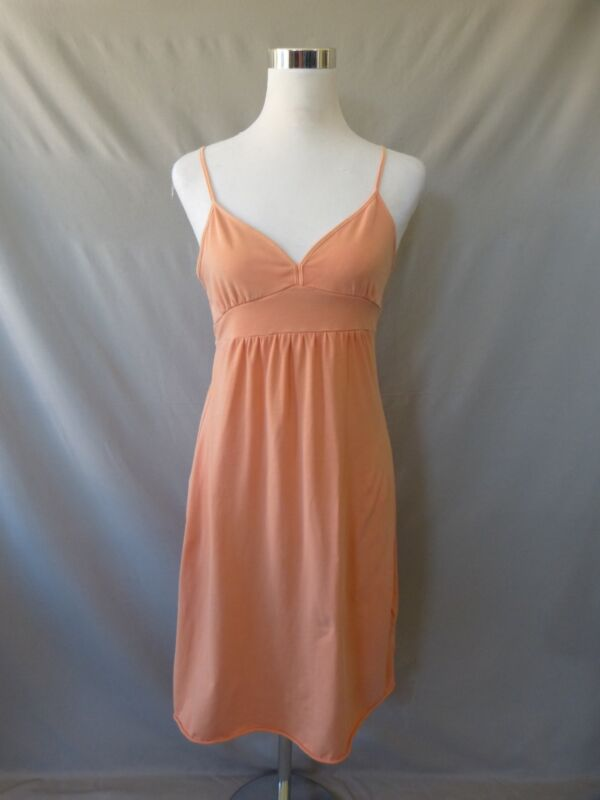 Gap Orange Pima Cotton Empire Waist Criss Cross Back Summer Dress Size S