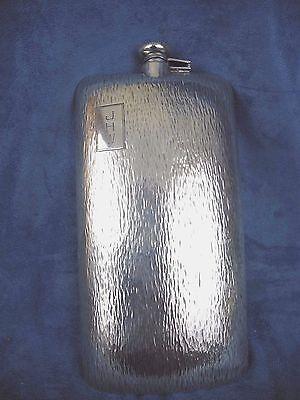 Clarence Vanderbilt Sterling Silver Flask Bark Finish Large Size