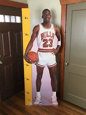 MICHAEL JORDAN 1987 VINTAGE LIFE SIZE MEASURE UP CARDBOARD CUT OUT DISPLAY Life Size Cardboard Cut Outs