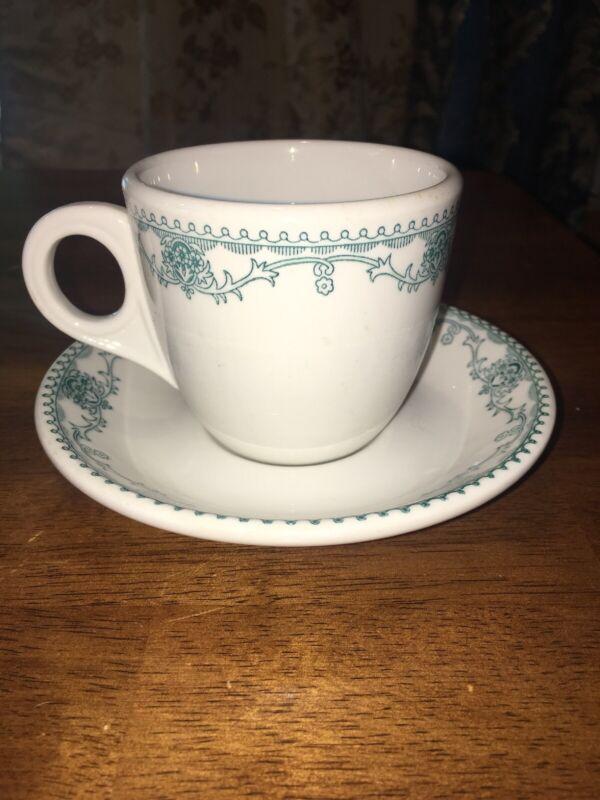 HORN & HARDART COFFEE CUP & Saucer Ohio China NASSAU Marion EC