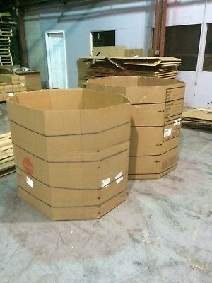 Wholesale Lots Of Used Gaylord Boxes Octagon Bins With Straps 2 Ply