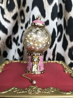 Betsey Johnson Vintage LARGE Candyland Pearl Gumball Candy Machine Necklace RARE
