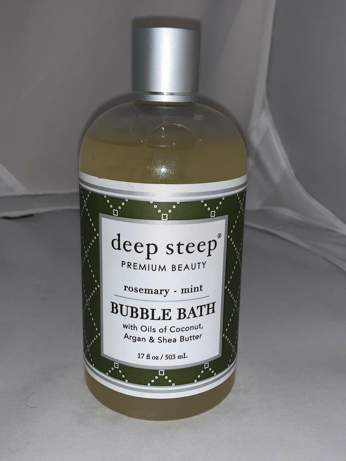 DEEP STEEP BUBBLE BATH,RSMRY MINT, 17 FZ, EA-1