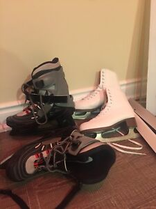 Skates Boots and Helmets.