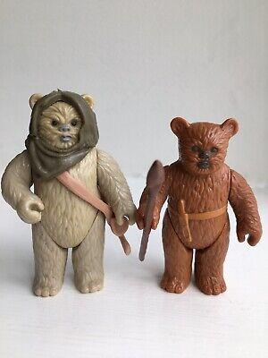 Vintage Star Wars Figures Last 17 Ewoks Lumat And Paploo..