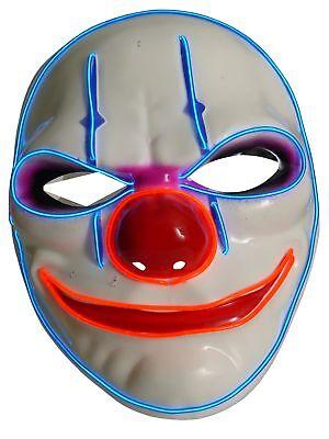 ES ist wieder da, die leuchtende und blinkende Horror Partymaske für Halloween