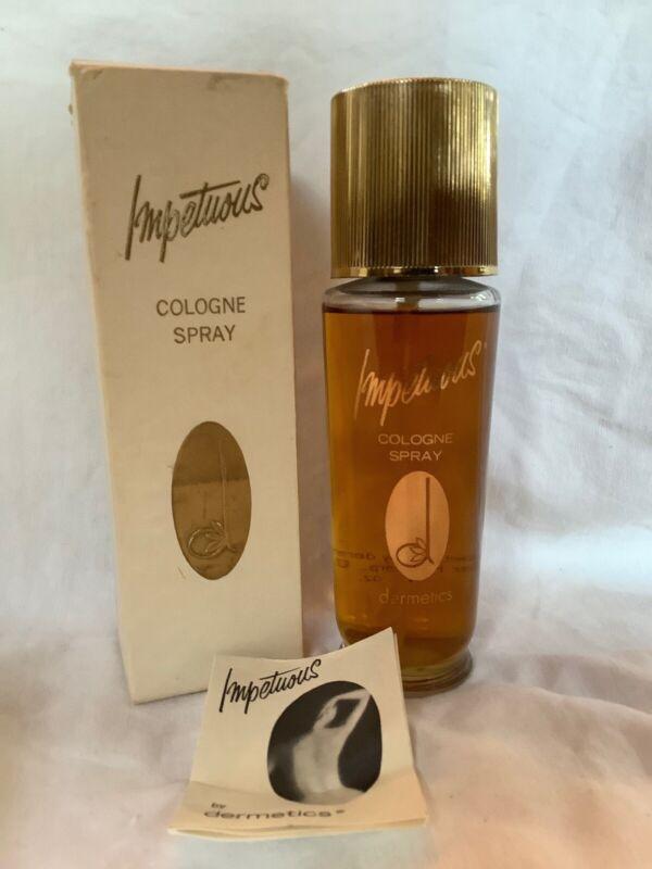 Vintage Dermetics Impetuous Cologne Spray Perfume 4 Oz.