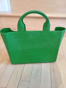 Kate Spade New York structured rubber Tote green