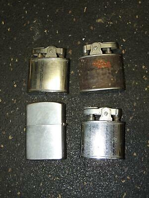 Vintage lot of 4 Lighters Goldenbell PAC CMC Supreme