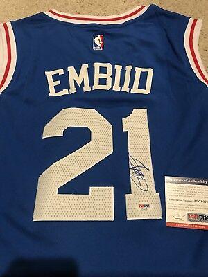 5bd110cb5 Joel Embiid Signed Autographed Philadelphia 76ers Jersey! PSA COA!