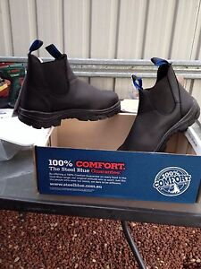 Steel blue work boots Moonah Glenorchy Area Preview