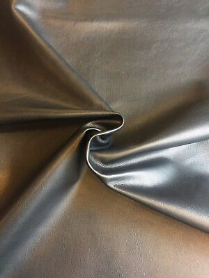 SALE Black Genuine Leather Hides Upholstery Material Craft Scrap Book Fabric 808 ()