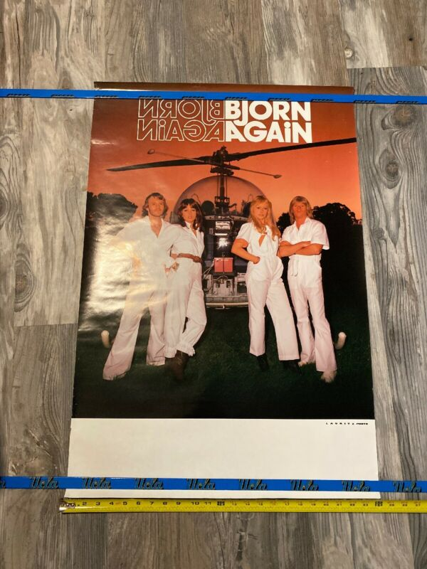 RARE VINTAGE Bjorn Again (of ABBA) POSTER 36x24