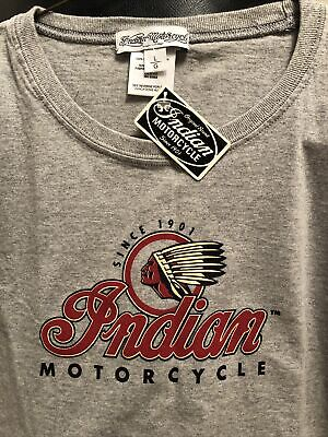 GENUINE INDIAN MOTORCYCLE BRAND T-SHIRT WOMENS Gray -large