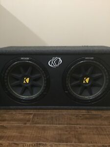 """2, 12"""" Kicker Subwoofers in enclosed box"""