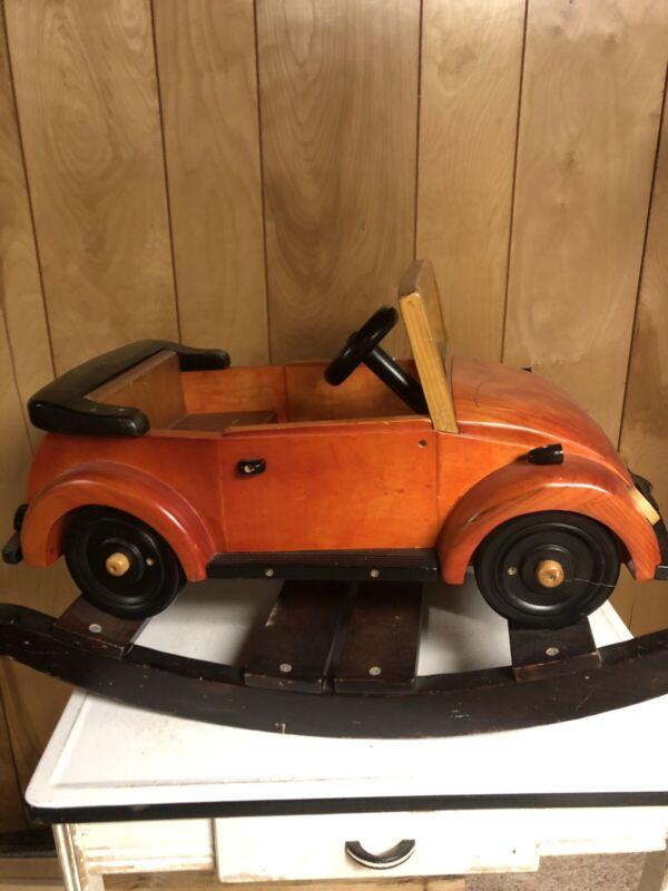 Volkswagen Bug Wooden Baby Rocker Vw  Beetle convertible