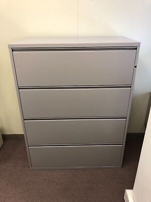 4 Drawer Lateral Size File Cabinet By Herman Miller Meridian Wlock