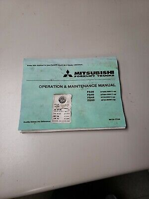 Mitsubishi Forklift Fg35 Fg40 Fg45 Fg 50 Operation And Maintenance Manual