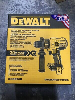 "DEWALT DCD996B Max XR 20V Li-Ion 1/2"" Cordless Hammer Drill (Tool Only)"