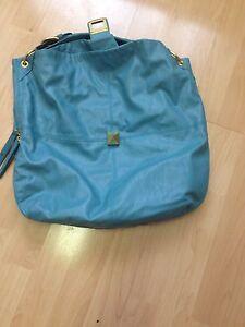 Blue leather Mark purse