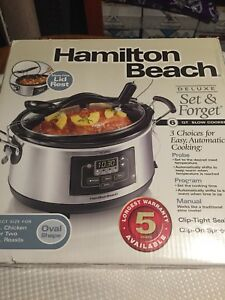 Like New Hamilton Beach Deluxe Set & Forget 6 QT Slow Cooker!
