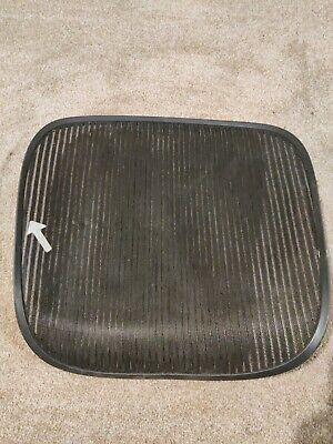Herman Miller Aeron Chair Seat Mesh Black Pellicle Wblemish Size C Large 224