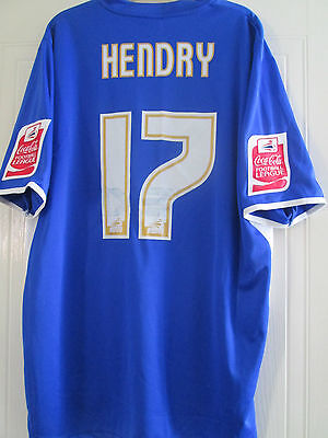 Will Hendry Squad Signed Match Worn Millwall 2006-07 Home Football Shirt /40461 image