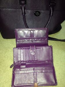 Purple wallet and bag