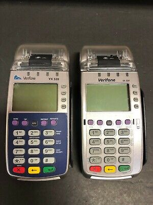Two Verifone Vx 520 Credit Card Machine