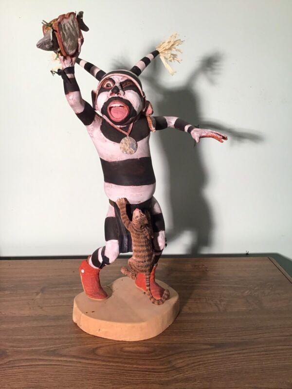 Hopi Clown Kachina By Famed Carver Neil David Sr