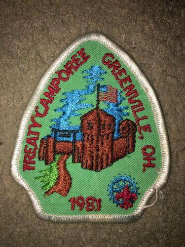 Boy Scout BSA 1981 Treaty Camporee Greenville Ohio Miami Valley Council Patch